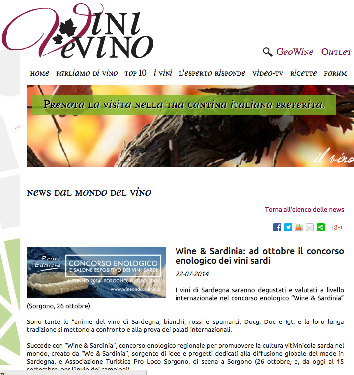 WandS press 2014 - Vini e Vino