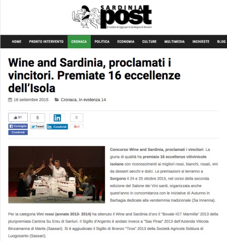 Sardiniapost - ws 2015 PRESS